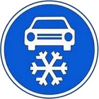 Povinná zimní výbava - značka